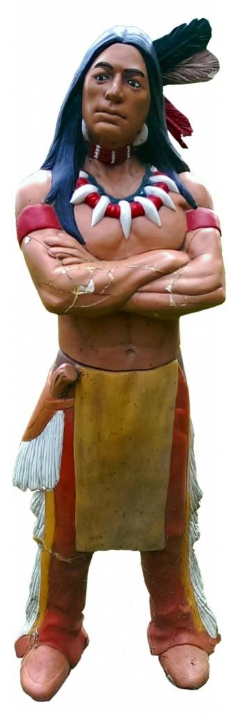 Statue d'Indien Descente de la Rouge