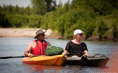 Descente de Kayak sur la Rivière pour tous les âges