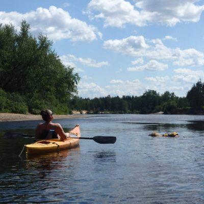 Expédition en kayak sur la rivière Rouge