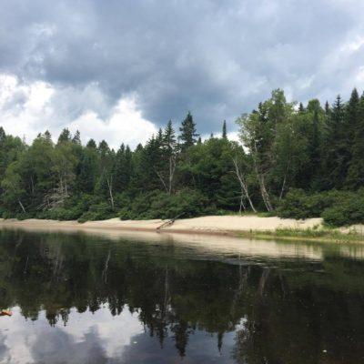 Photo paysage de la rivière Rouge
